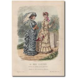 Gravure de La Mode Illustrée 1883 24