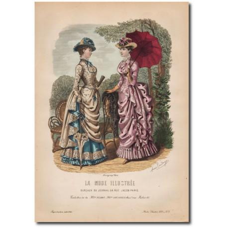Gravure de La Mode Illustrée 1883 31