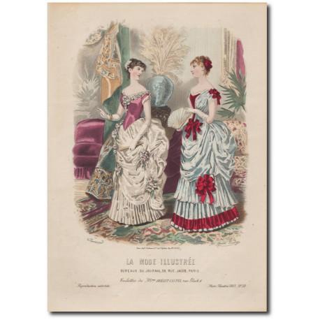 Gravure de La Mode Illustrée 1883 50