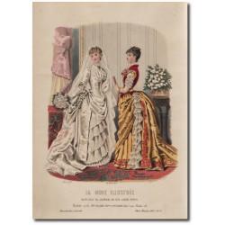 Gravure de La Mode Illustrée 1883 51
