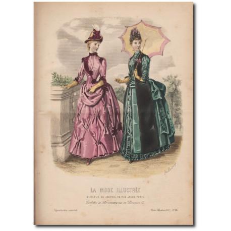 Gravure de La Mode Illustrée 1887 16