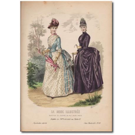 Gravure de La Mode Illustrée 1887 19