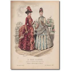 Gravure de La Mode Illustrée 1887 21