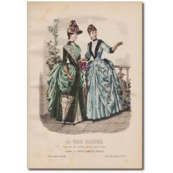 Gravure de La Mode Illustrée 1887 31