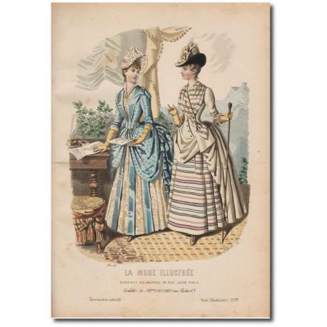 Gravure de La Mode Illustrée 1887 33