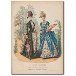 Gravure de La Mode Illustrée 1887 34