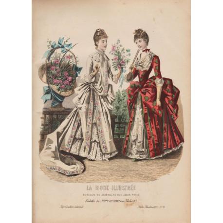Gravure de La Mode Illustrée 1887 35