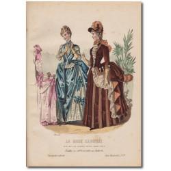 Gravure de La Mode Illustrée 1887 39