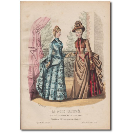 Gravure de La Mode Illustrée 1887 42