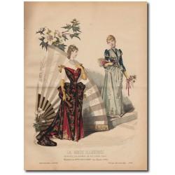 Gravure de La Mode Illustrée 1890 06