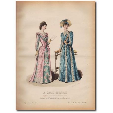 Gravure de La Mode Illustrée 1890 29