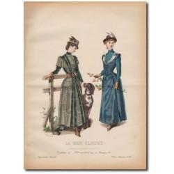 Gravure de La Mode Illustrée 1890 35