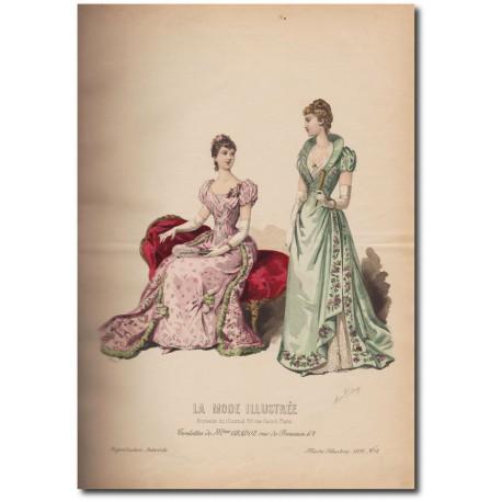 Gravure de La Mode Illustrée 1891 02