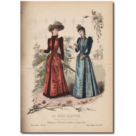 Gravure de La Mode Illustrée 1891 03
