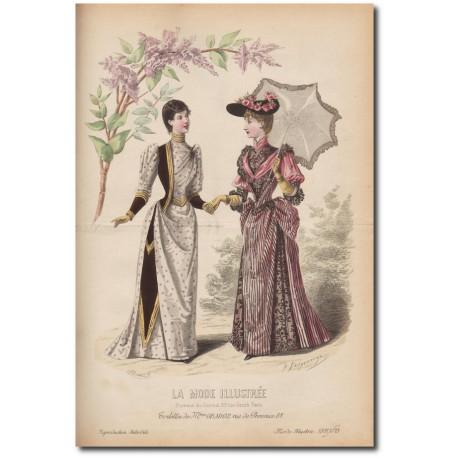 Gravure de La Mode Illustrée 1891 13