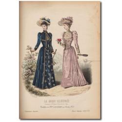 Gravure de La Mode Illustrée 1891 22
