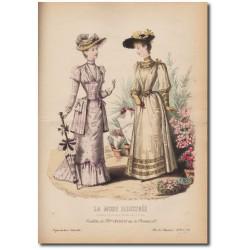 Gravure de La Mode Illustrée 1891 25