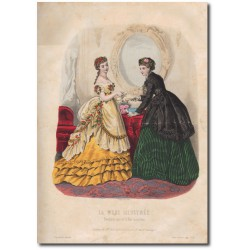 Gravure de La Mode Illustrée 1869 10