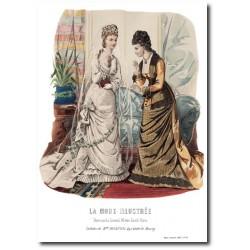 Gravure La Mode Illustrée 1877 18