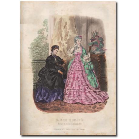 Gravure de La Mode Illustrée 1869 16