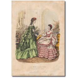 Gravure de La Mode Illustrée 1869 42