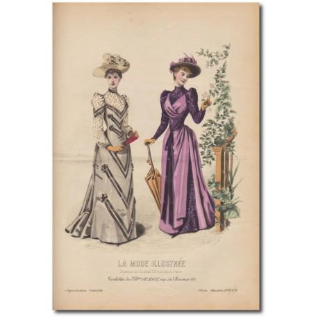 Gravure de La Mode Illustrée 1891 35