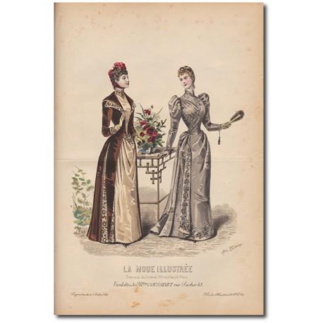 Gravure de La Mode Illustrée 1891 38