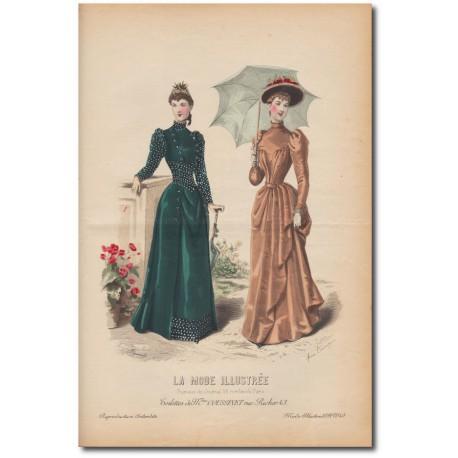 Gravure de La Mode Illustrée 1891 40