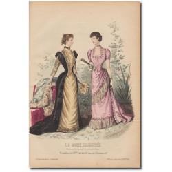 Gravure de La Mode Illustrée 1891 49