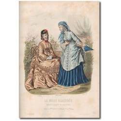 Gravure de La Mode Illustrée 1872 18