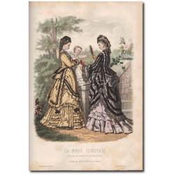 Gravure de La Mode Illustrée 1872 27