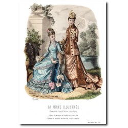 Gravure La Mode Illustrée 1877 23
