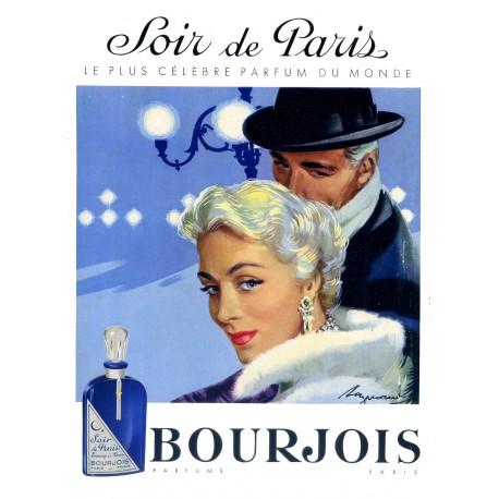 Publicité Parfum Soir de Paris 1956