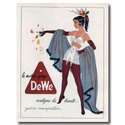 Publicité Soutien-gorge Dewé 1954