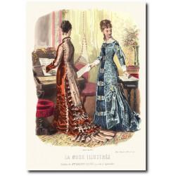 Gravure La Mode Illustrée 1877 43