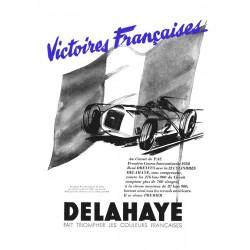 Publicité Delahaye 1938