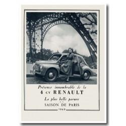 Publicité Renault 4cv