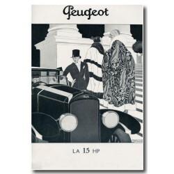 Publicité Peugeot 15 1921