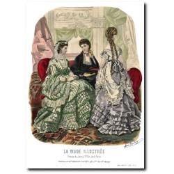 Gravure La Mode Illustrée 1869 2
