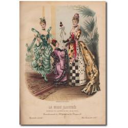 Gravure de La Mode Illustrée 1887 04
