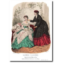 Gravure La Mode Illustrée 1869 12