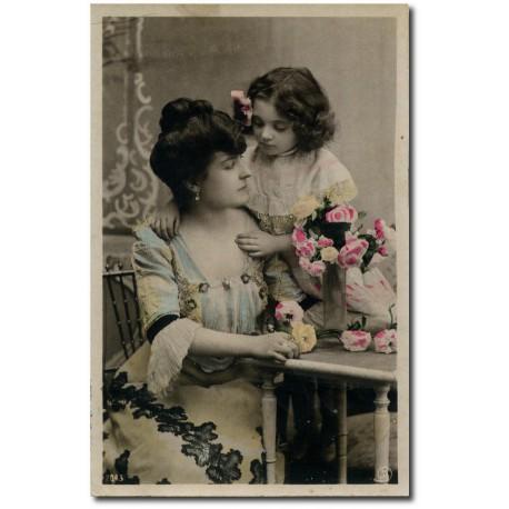 Carte postale-tendresse-maman-1916
