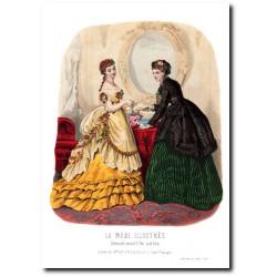 Gravure La Mode Illustrée 1869 10