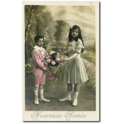 Carte postale-frere-soeur-heureuse-annee-1915-34