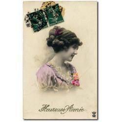 Carte postalevoeux-leontine-1918-42