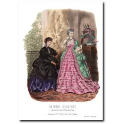 Gravure La Mode Illustrée 1869 16
