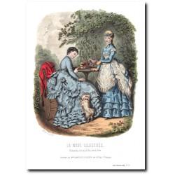 Gravure La Mode Illustrée 1869 20