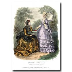 Gravure La Mode Illustrée 1869 26