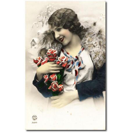 Postcard 1900 373-roses