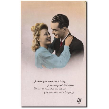 Carte postale 1900 402-amour